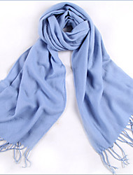 LYZA Vogue Solid Thin Style Sun Block Soft Tassel Knitted Women's Scarf