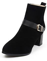 Feminino-Saltos-Botas de Cowboy Botas de Neve Botas Montaria Botas da Moda-Salto Grosso-Preto Amarelo Vermelho-Sintético Couro