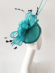 Kentucky Derby Church Races Green And Black Flax Wedding Event Fascinator