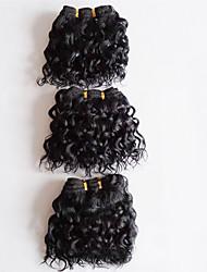 Short Length 3pcs/lot 300g Brazilian Virgin Hair Body Wave Natural Black Unprocessed Raw Virgin Human Hair Weaves