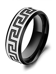 Men Jewelry Stainless Steel Ring 18k Gold Ring Boho Great Wall Pattern Men Rings