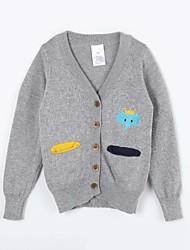Mädchen Pullover & Cardigan-Lässig/Alltäglich einfarbig Baumwolle Herbst Grau