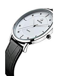 WWOOR® Men's Genuine Leather Band Japanese Quartz Imitation Diamond 30m Water Ressistant Party Wedding Dress Wacth Gift Wrist Watch