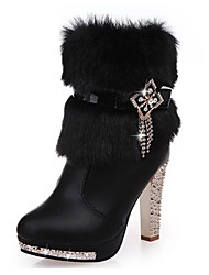 Women's Boots Fall / Winter Fashion Boots / Combat Boots Other Animal Skin Office & Career / Dress Stiletto Heel Zipper