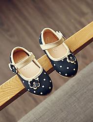 Girl's Sandals Spring / Summer / Fall Sandals PU Outdoor / Dress / Casual Flat Heel Flower Blue / Pink / Beige Walking