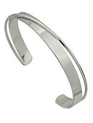 New Silver Color Adjustable Metal Cuff Bangles for Women Christmas Gifts