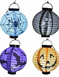 1pcs Halloween Pumpkin and Ghost Lantern Haunted Fold Lampion Halloween Decoration Party Decorations Yard Hanging Decor