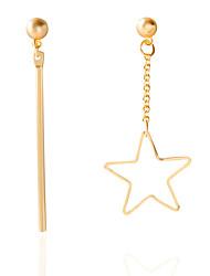 EarringStud Earrings GeometricJewelry 1 pair Fashionable / Personality / Adorable Alloy / Acrylic Gold