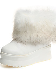 Women's Boots Fall / Winter Snow Boots Leather Outdoor / Casual Flat Heel Others  Gold Snow Boots