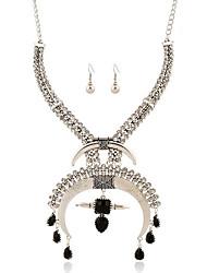 pode Polly moda retro colar de brincos de diamantes europeus e americanos definir