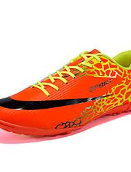 Femme-Extérieure / Sport-Noir / Orange-Talon Plat-Confort-Sneakers-Polyuréthane