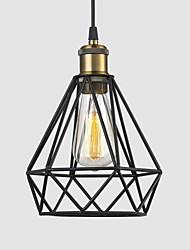 Макс 60w ретро металл черный Birdcage подвесные светильники ресторан, кафе, игровая комната, гараж чердак светильник
