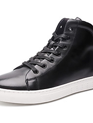 Men's Sneakers Spring/Summer /Fall/Winter Combat Boots Nappa Leather Athletic / Casual Big Size Black Sneaker