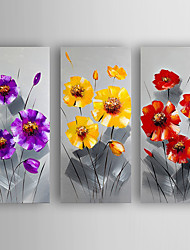 Oil Painting Flowers Set of 3 Hand Painted Canvas with Stretched Framed Ready to Hang