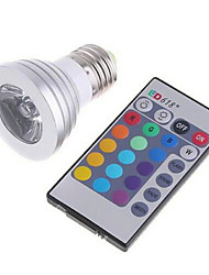 3 E26/E27 Bombillas LED Inteligentes MR16 1 LED de Alta Potencia 270lm lm RGB Regulable / Control Remoto AC 85-265 V 1 pieza