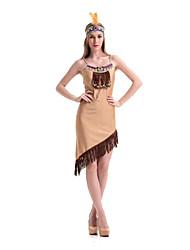 Costumes More Costumes Halloween Beige Solid Terylene Dress / More Accessories