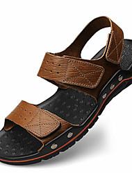 Herren-Slippers & Flip-Flops-Lässig-PVC-Flacher AbsatzBraun Khaki