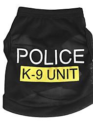 Собаки Футболка Синий / Черный / Розовый Одежда для собак Лето Полиция/армия На каждый день /