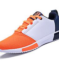 Primavera dos homens Athletic Shoes / cair conforto pu ocasional calcanhar plana azul / cinza sneaker / / laranja