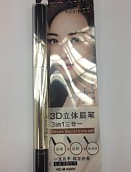 lápis de sobrancelha olhos negros naturais secos