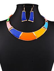 Damen Schmuckset Tropfen-Ohrringe Anhängerketten Modeschmuck Schmuck mit Aussage Modisch Europäisch Fest/Feiertage Zirkon vergoldet