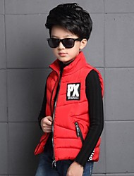 Boy's Casual/Daily Solid VestPolyester Winter Black / Red / Gray