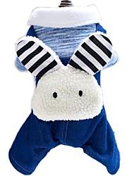 katten / honden kostuums / Jassen / Broeken / Jeans / Harnassen / Jumpsuits Groen / Cyaan Hondenkleding Winter / Lente/HerfstEffen /