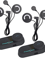 2 pcs freedconn bt bluetooth casque de moto intercom interphone casque avec fm radiosoft écouteurs t-com fm