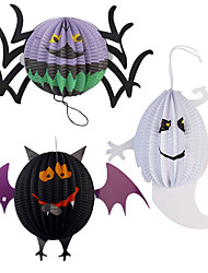 Funny Halloween Pumpkin Big Size Ghost Spider Bat Skeleton Lamp Paper Lanterns Decoration Party