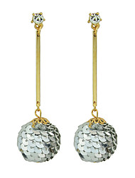 Colorful Metal Ball Long Drop Earrings for Women