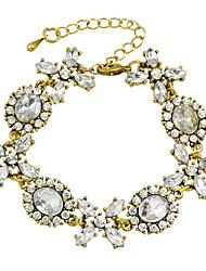 Rhinestone Flower Charms Bracelets