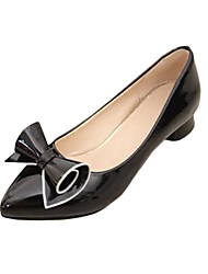 Women's Heels Summer Heels PU Casual Low Heel Bowknot Black / Red / White Others
