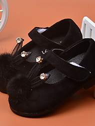 Girl's Flats Spring / Fall Flats PU Casual Flat Heel Crystal / Magic Tape Black / Red / Gray Others