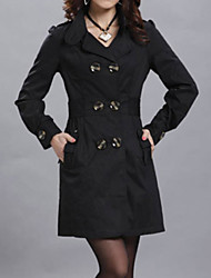 Women's Vintage Long Coat Cotton Blends