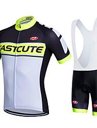 fastcute Cycling Jersey with Bib Shorts Women's Men's Kid's Unisex Short Sleeve BikeBib Shorts Jersey Bib Tights Sweatshirt Clothing