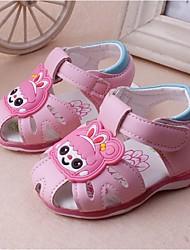 Girl's Sandals Summer Sandals Casual Flat Heel Applique Pink / Fuchsia Walking