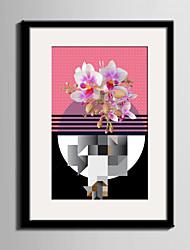 Пейзаж / фантазия Холст в раме / Набор в раме Wall Art,ПВХ Черный Коврик входит в комплект с рамкой Wall Art