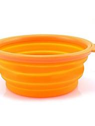Cat / Dog Bowls & Water Bottles Pet Bowls & Feeding Waterproof / Portable Green / Pink / Orange Silicone