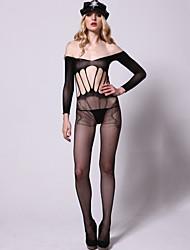 Women Sexy Lingerie Mesh Printing Design Vulnerabilities Sleeveless Conjoined Stockings Policemen Uniforms Temptation