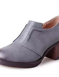 Women's Heels Spring / Fall Round Toe Dress / Casual Chunky Heel Split Joint