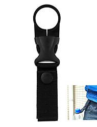 FURA Nylon Braided Belt  Copper Button Water Bottle Holder Buckle - Black / Khaki / Army Green