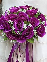 Fleurs de mariage Rond Roses Bouquets Mariage La Fête / soirée Satin Env.25cm
