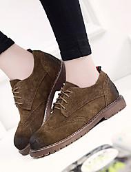 Homme-Extérieure-Noir-Gros Talon-Confort-Sneakers-Cuir