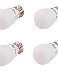 3 E26/E27 Круглые LED лампы A60(A19) 6 SMD 5730 220 lm Тёплый белый Декоративная AC 85-265 / AC 220-240 / AC 110-130 V 4 шт.