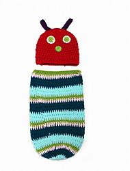 Fashion Baby Acrylic Casual/Daily Caterpillar Style Hoodie Sleepwear Patchwork All Seasons