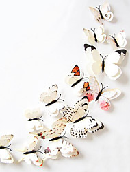 12Pcs 3D DIY PVC Double Butterfly Wall Sticker Decals Home Decor Decoration