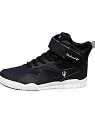 Atlético primavera sapatos masculinos / cair tecido conforto casual calcanhar plana preto / vermelho / branco / laranja tênis