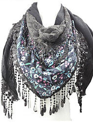 Women Polyester ScarfCasual TrianglePrint