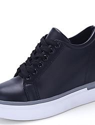 Da uomo-Sneakers-Casual-Zeppe / Comoda-Zeppa-Finta pelle-Nero / Bianco