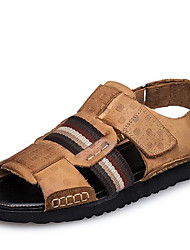 Men's Sandals Summer Sandals Leather Casual Flat Heel Others Black / Brown Others